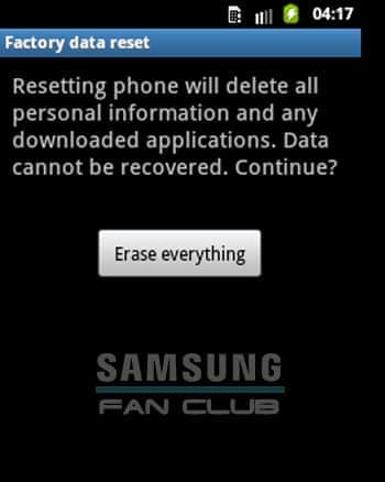 Erase everything Samsung Galaxy Tab, Fit, Grand