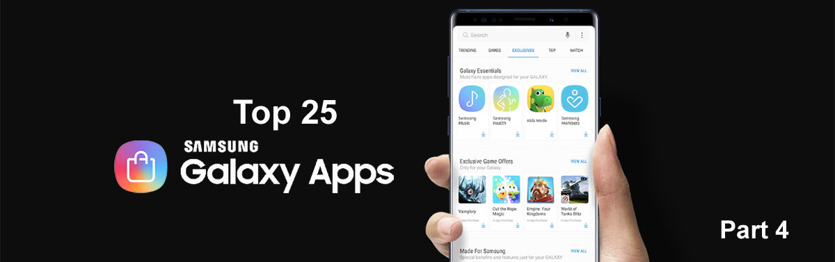 The 25 best apps for Samsung phones. Part 4